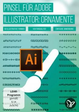 50 Brushes für Adobe Illustrator – schmuckvolle Ornamente