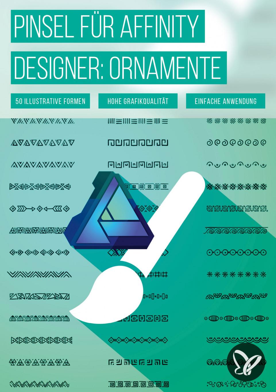 Affinity Designer – 50 Brushes mit Ornamenten