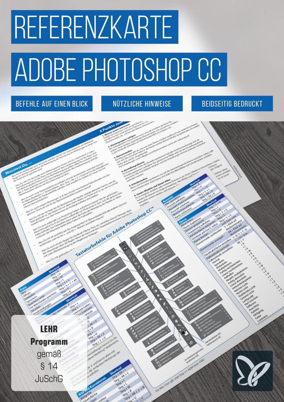 Shortcuts: Photoshop-Referenzkarte
