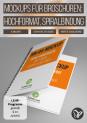 Mockups für Hardcover-Broschüren im Hochformat mit Spiralbindung
