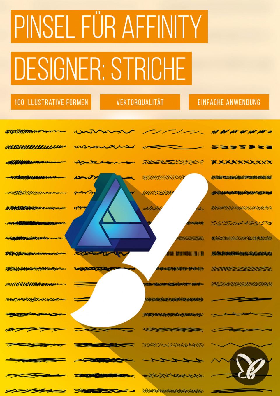 100 Affinity Designer-Pinsel für Vektorgrafiken im Skizzen-Look