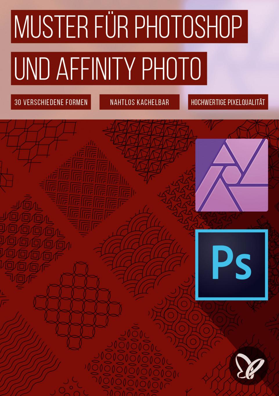 Geometrische Muster für Photoshop und Affinity Photo