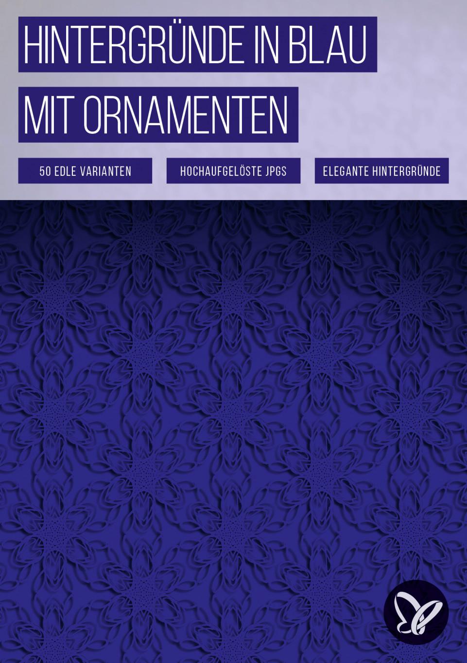 50 blaue Hintergrundbilder mit Ornamenten zum Download