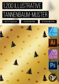 1.200 Tannenbaum-Muster zur weihnachtlichen Illustration