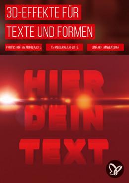 Photoshop: moderne 3D-Effekte für Text und Grafik