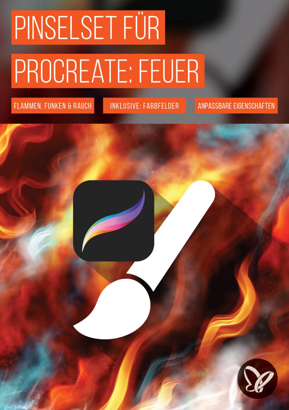Procreate-Pinsel: Feuer, Flammen, Funken und Rauch