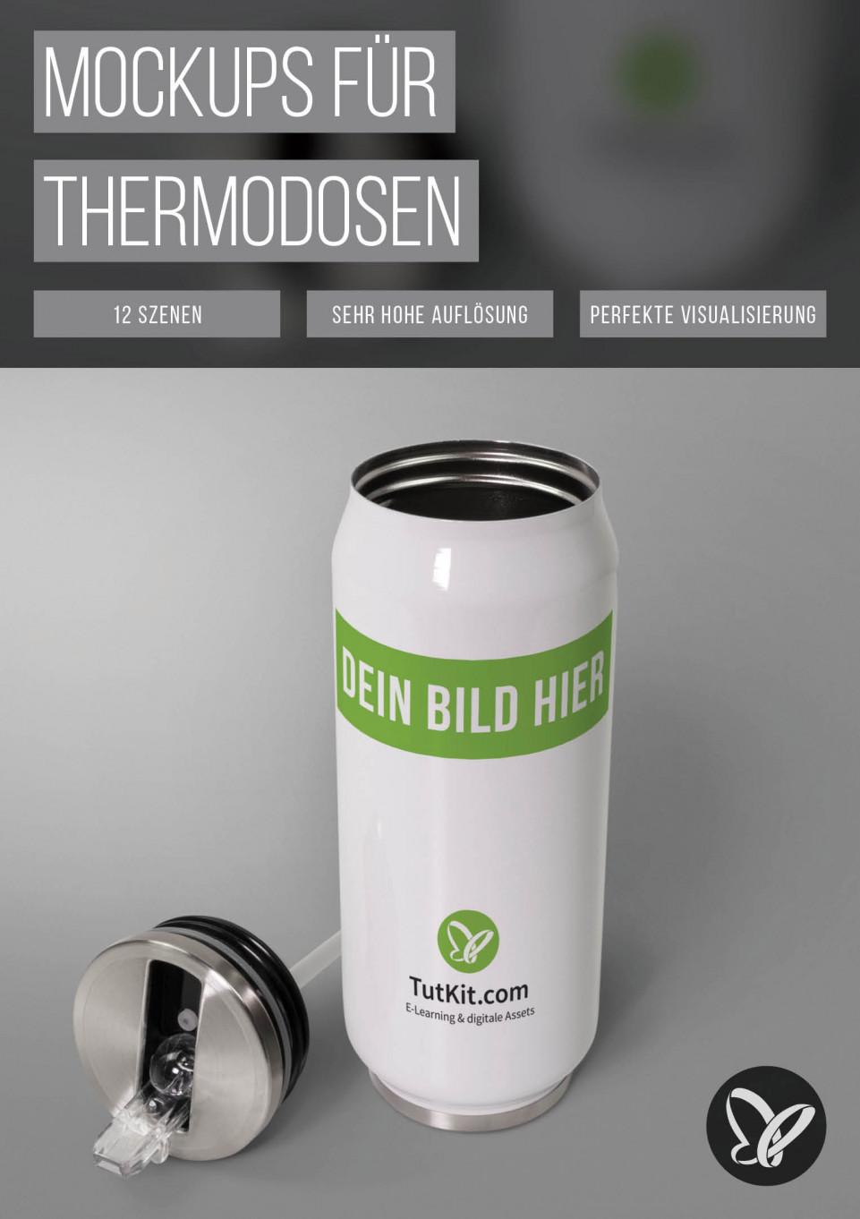 Photoshop-Mockups für Thermodosen