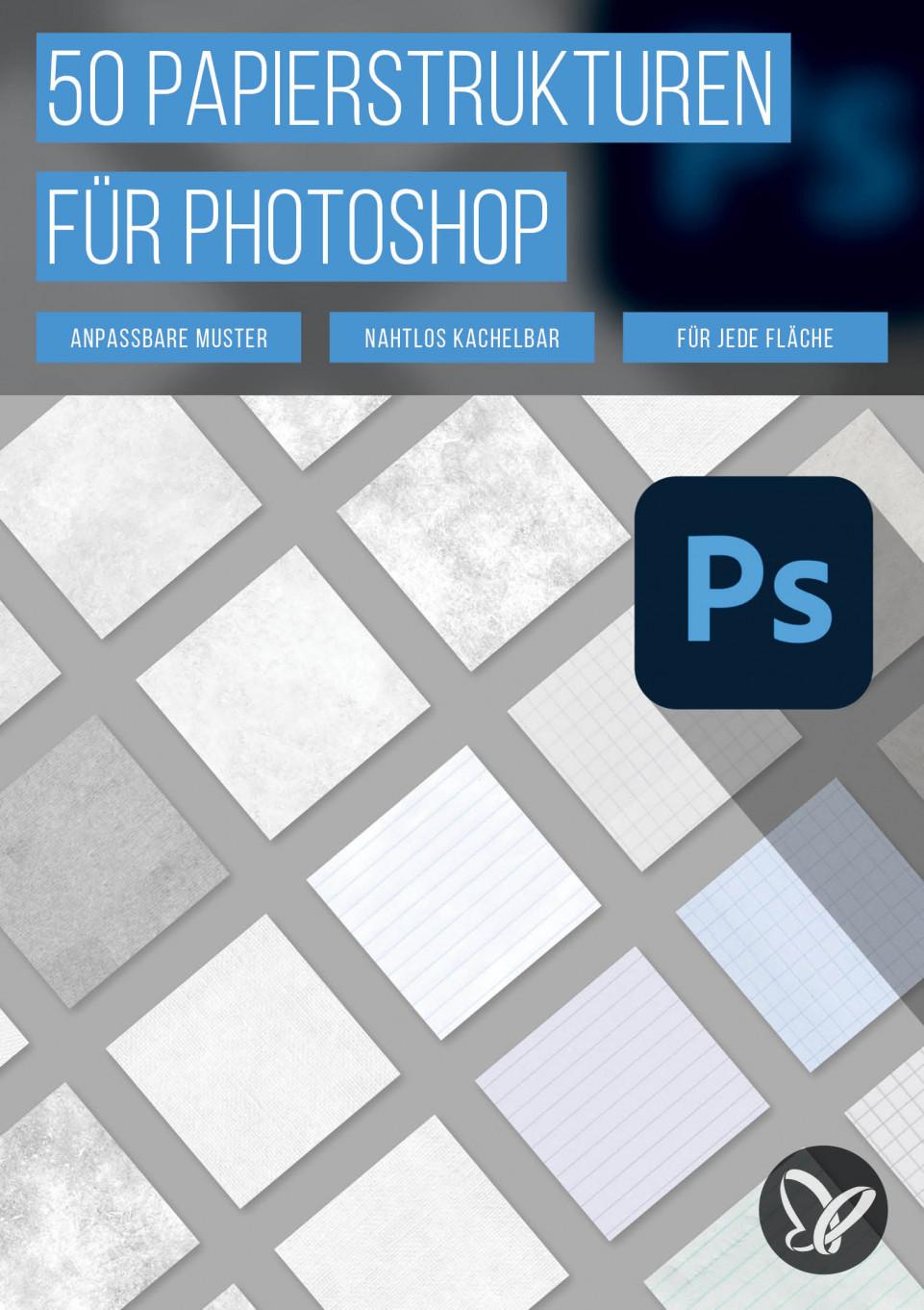 50 Papierstrukturen als Muster für Photoshop