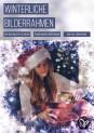 30 Bilderrahmen für Weihnachten und Winter: Schneeflocken und Eiskristalle