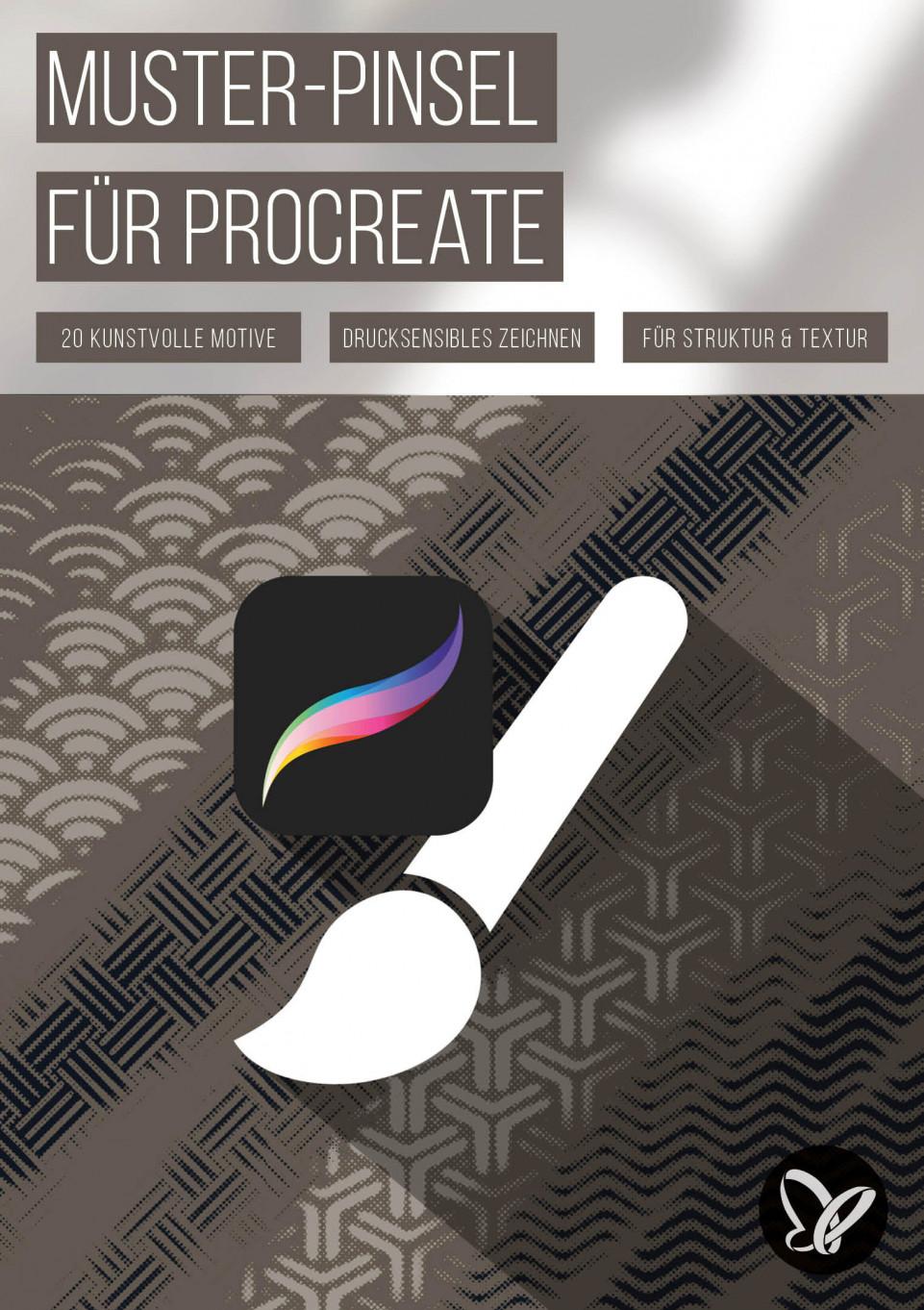 Pattern-Brushes für Procreate: 20 Muster-Pinsel für Zeichnungen mit Struktureffekt