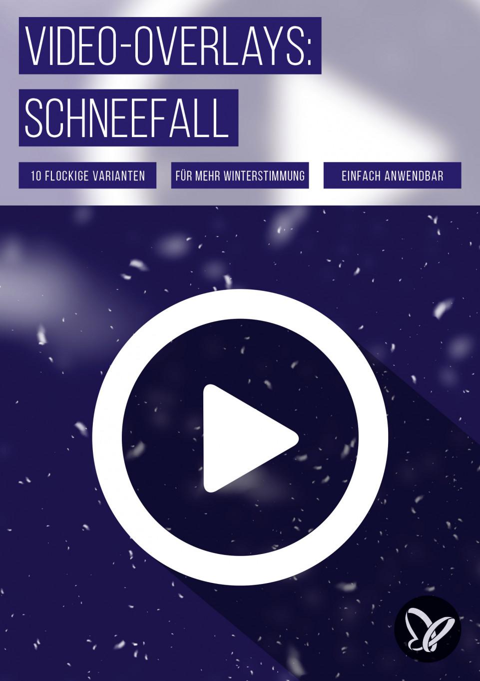 Let it snow! Video-Overlays für zauberhafte Schnee-Effekte in 4K-Qualität