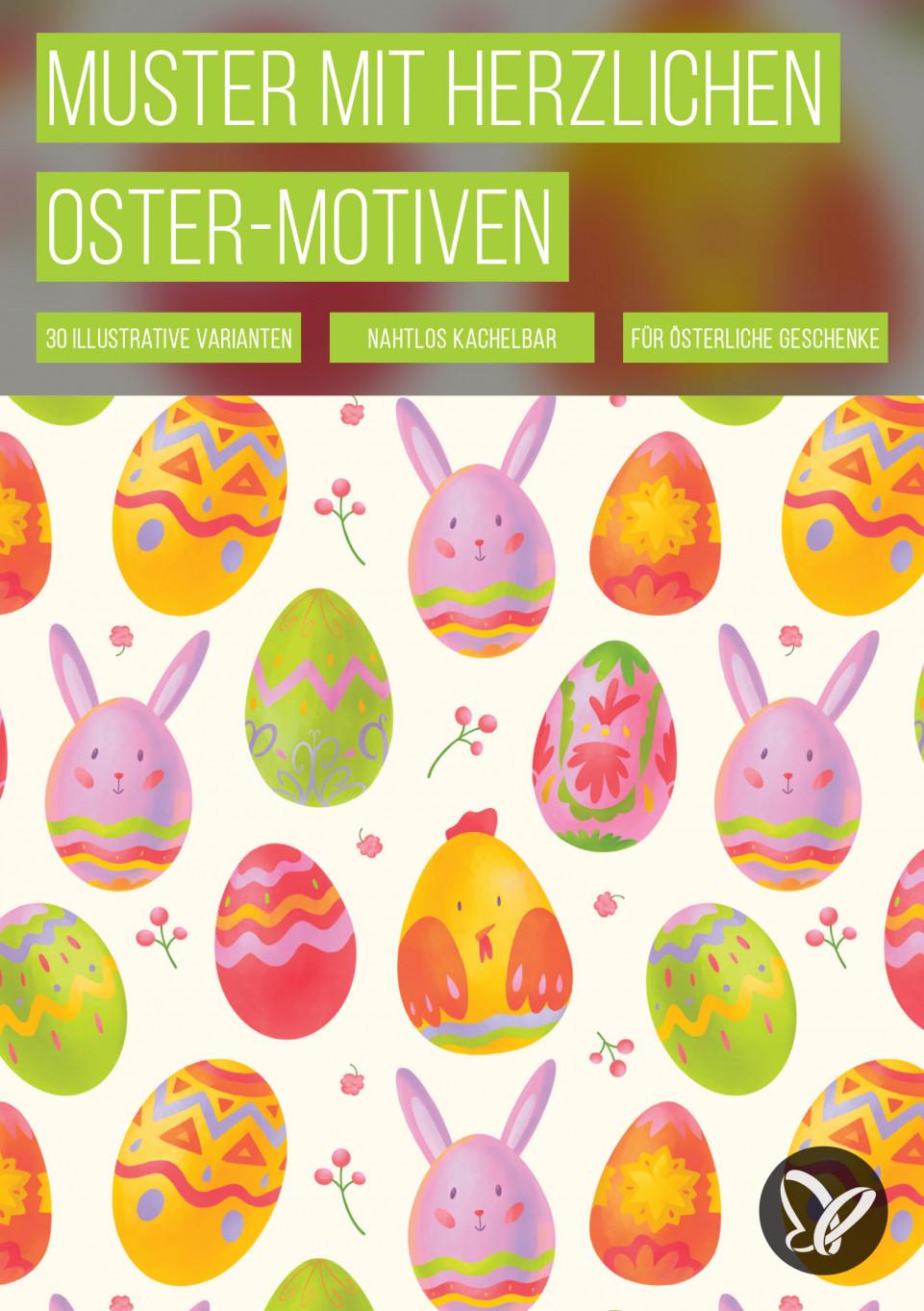 Ostern: Muster für österliche Hintergrundbilder