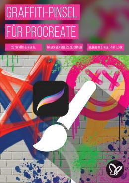 Graffiti-Brushes für Procreate: digitale Spray-Effekte für stylishe Street-Art-Elemente