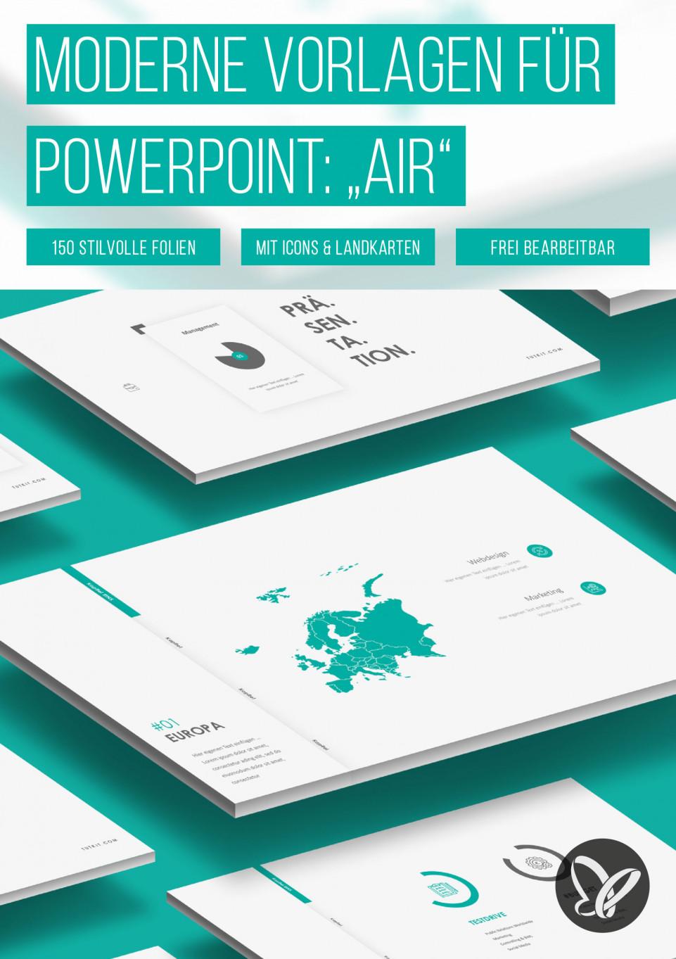 """PowerPoint: Präsentationsvorlage """"Air"""""""