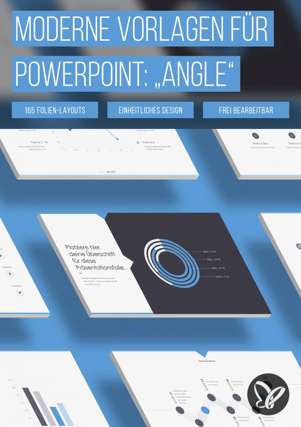 """PowerPoint: Folien-Vorlagen """"Angle"""""""