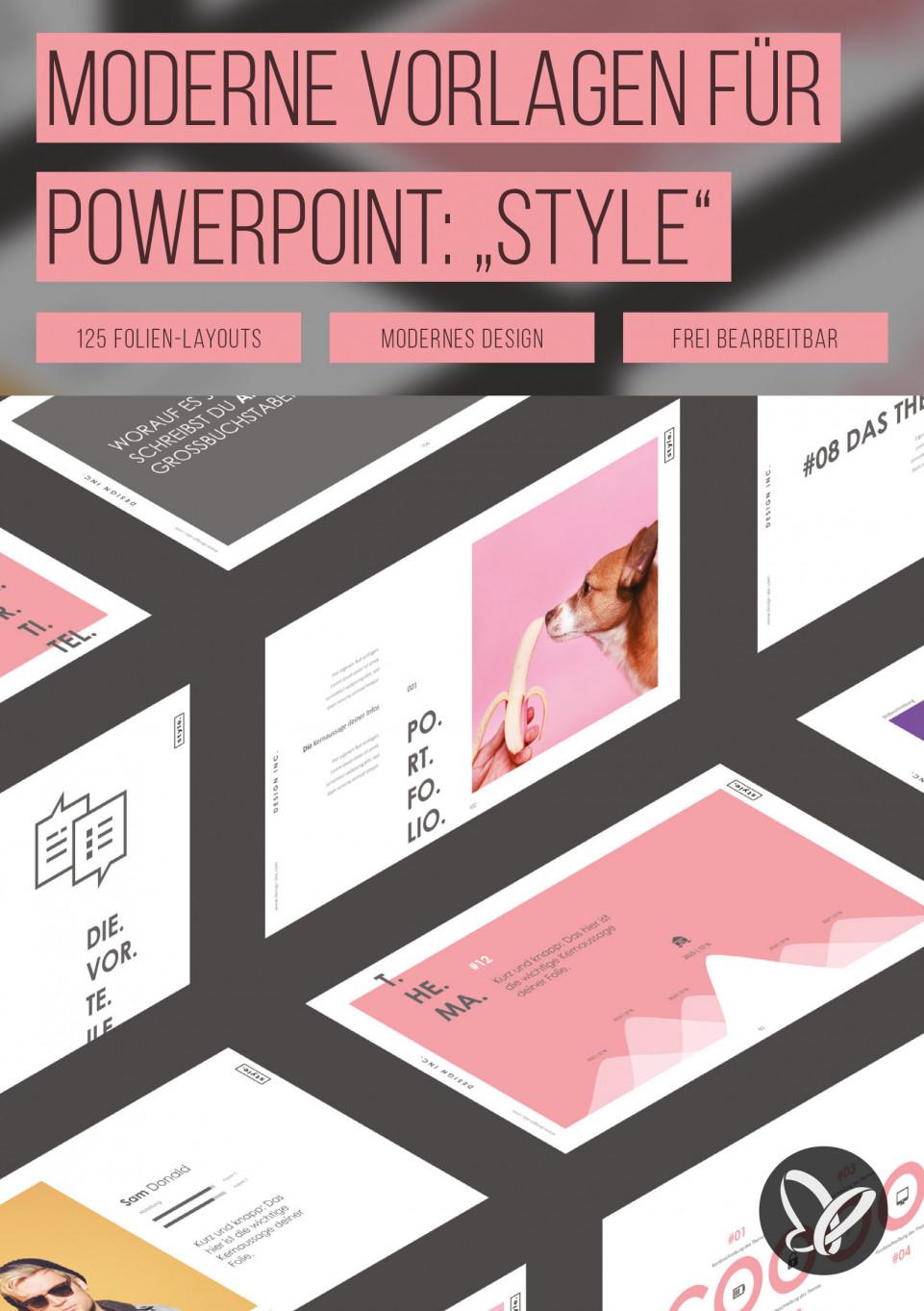 """Wunderschöne PowerPoint-Vorlagen im """"Style""""-Design"""