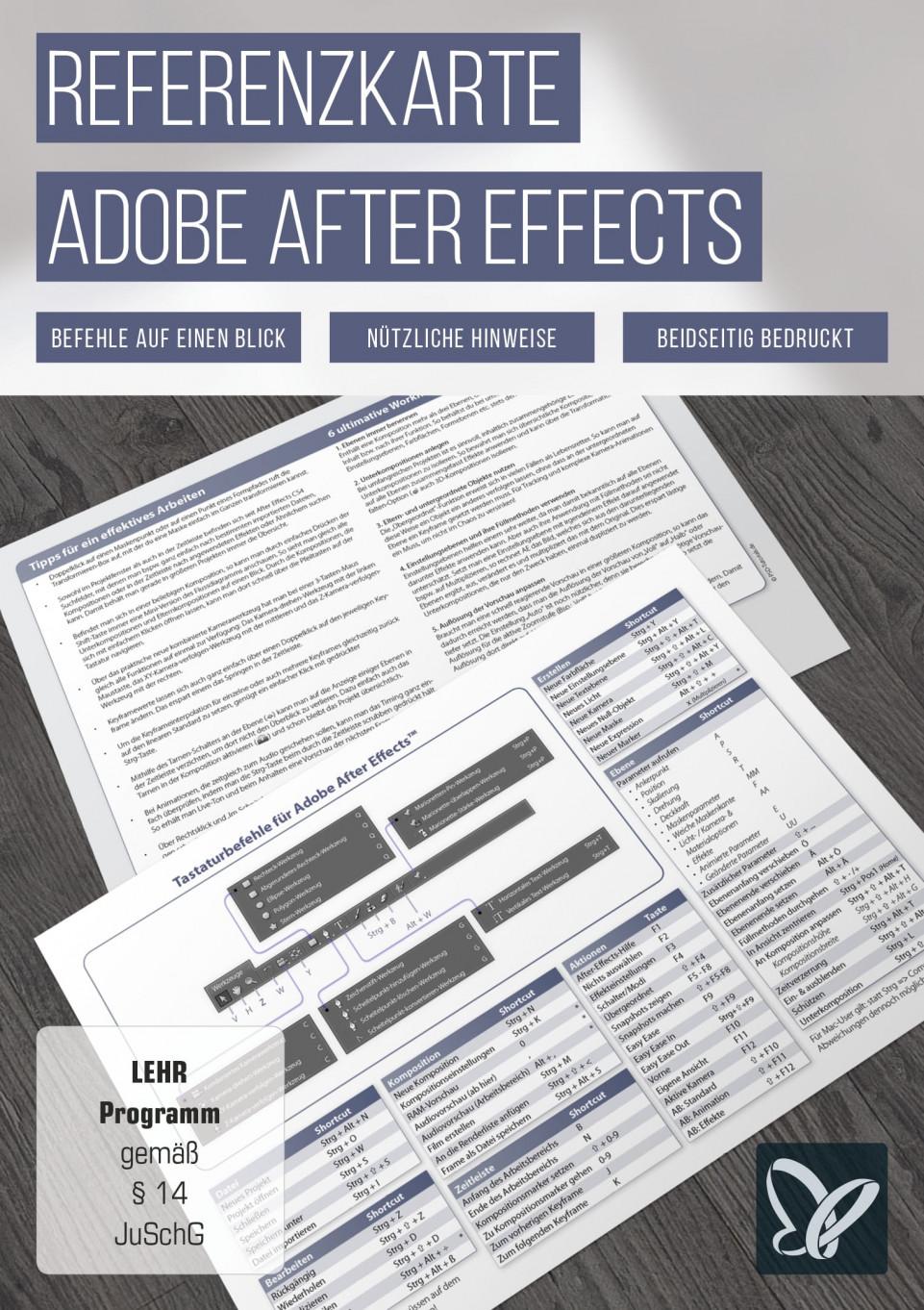 After Effects-Referenzkarte