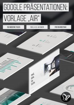 """Google Präsentationen: Design-Vorlage """"Air"""""""