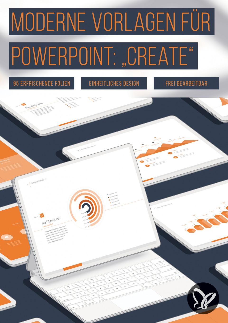 """PPT-Template """"Create"""" – erfrischendes Design für erfolgreiche Präsentationen"""