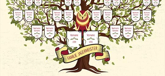 Funf Illustrative Vorlagen Fur Euren Familienstammbaum