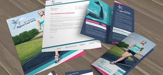 Corporate Design: Briefpapier, Visitenkarten, Flyer