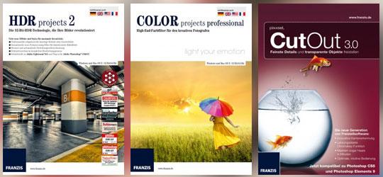 HDR projects, COLOR projects und CutOut von Franzis für TutKit-Mitglieder