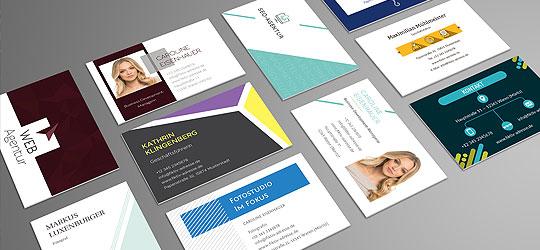 Design Vorlagen Für Visitenkarten