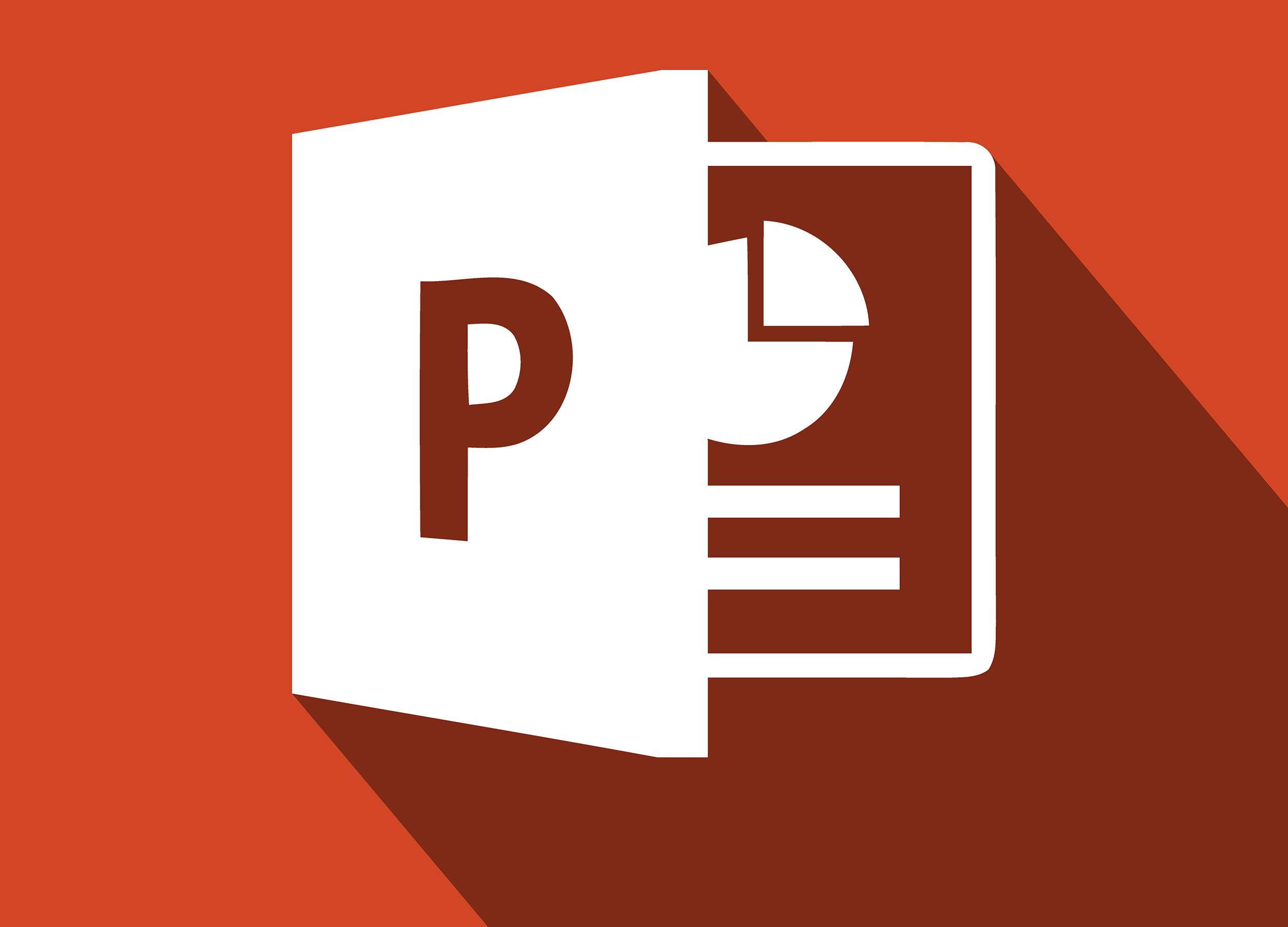 Icon von Microsoft PowerPoint zur Illustration von PowerPoint-Tutorial: Grundlagen lernen für gelungene Präsentationen
