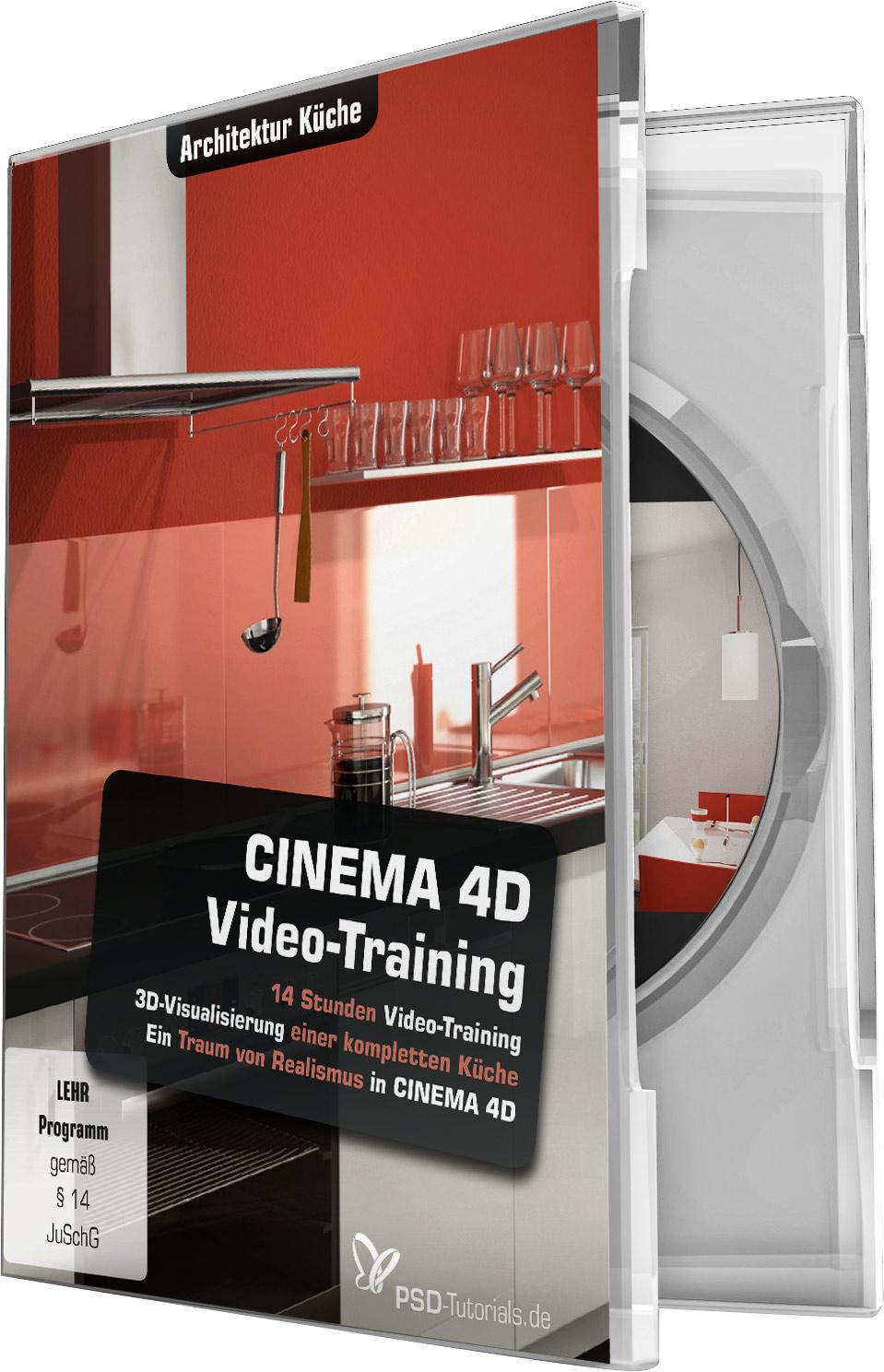 cinema 4d video training architektur k che psd shop. Black Bedroom Furniture Sets. Home Design Ideas
