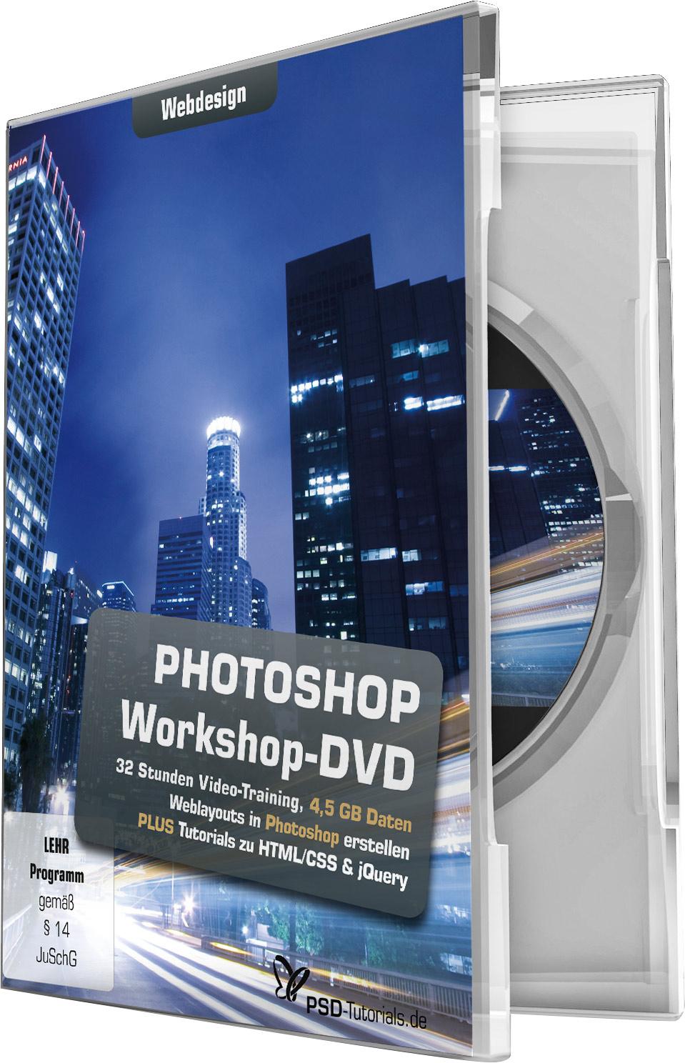 photoshop workshop dvd webdesign psd shop. Black Bedroom Furniture Sets. Home Design Ideas