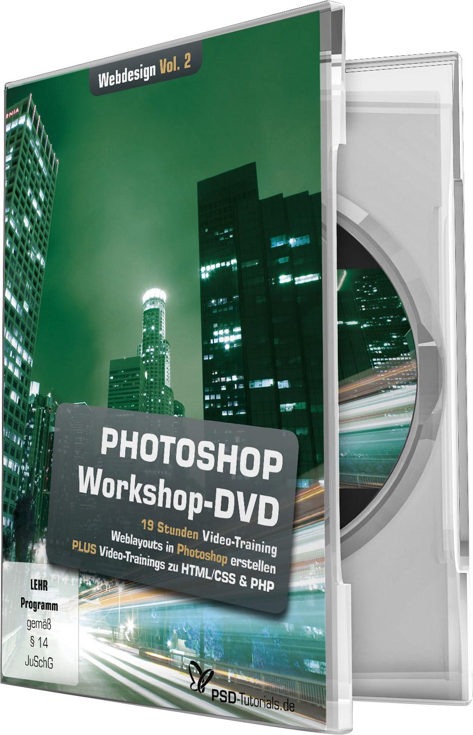 photoshop workshop dvd webdesign vol 2 psd shop. Black Bedroom Furniture Sets. Home Design Ideas