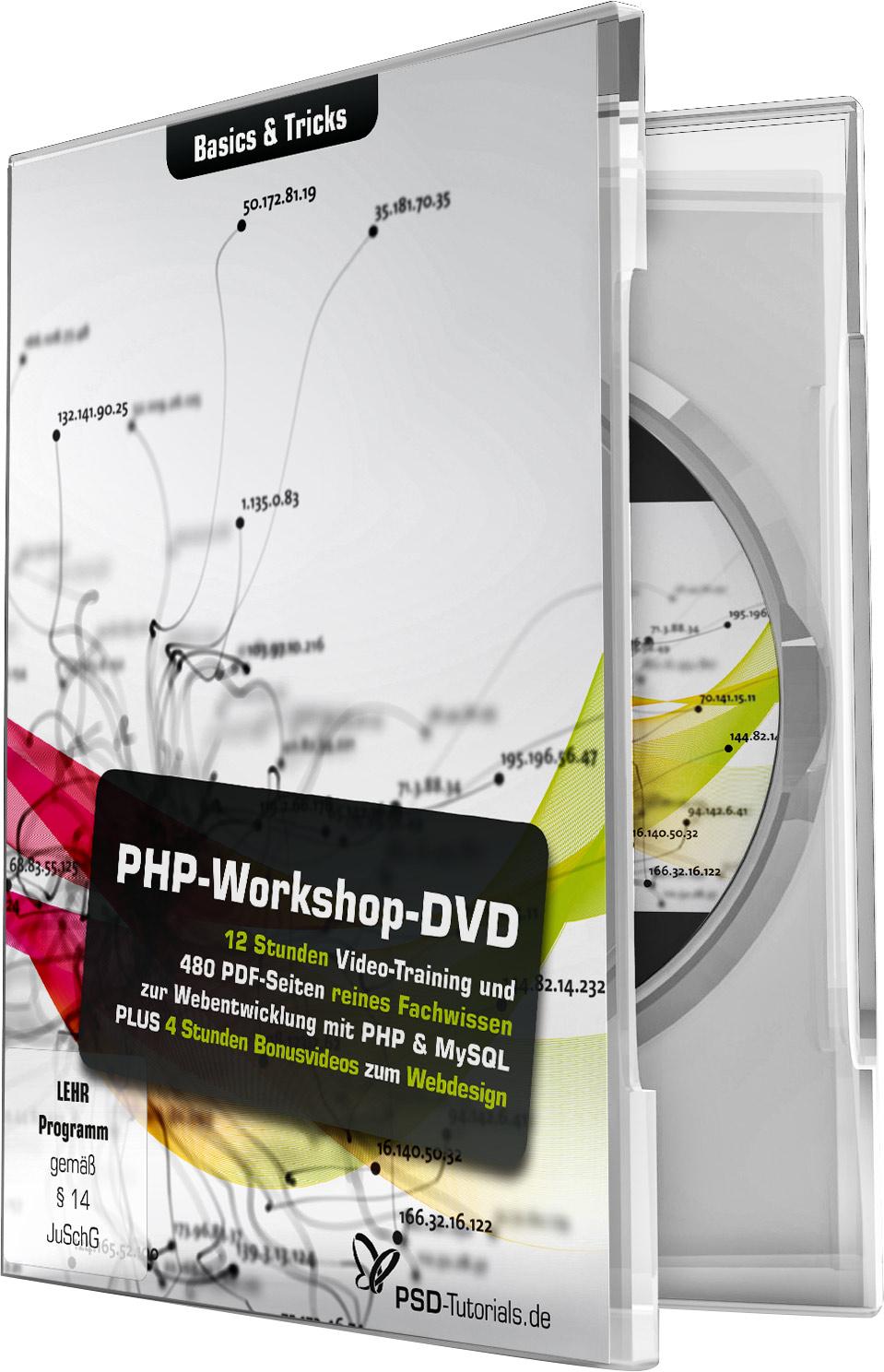 php workshop dvd basics tricks psd shop. Black Bedroom Furniture Sets. Home Design Ideas