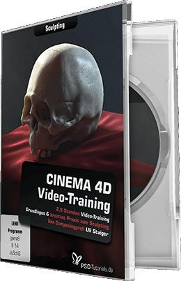 cinema 4d video training sculpting psd shop. Black Bedroom Furniture Sets. Home Design Ideas