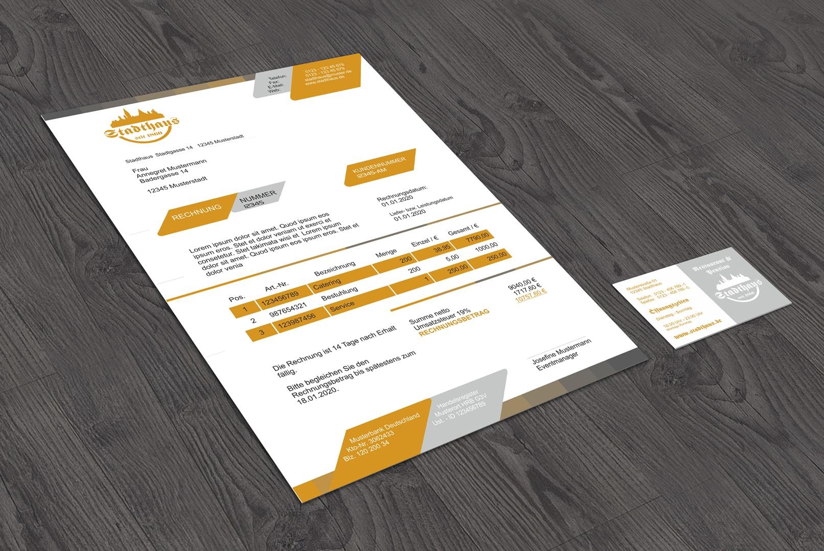 Geschäftsbrief, erstellt mit CorelDRAW