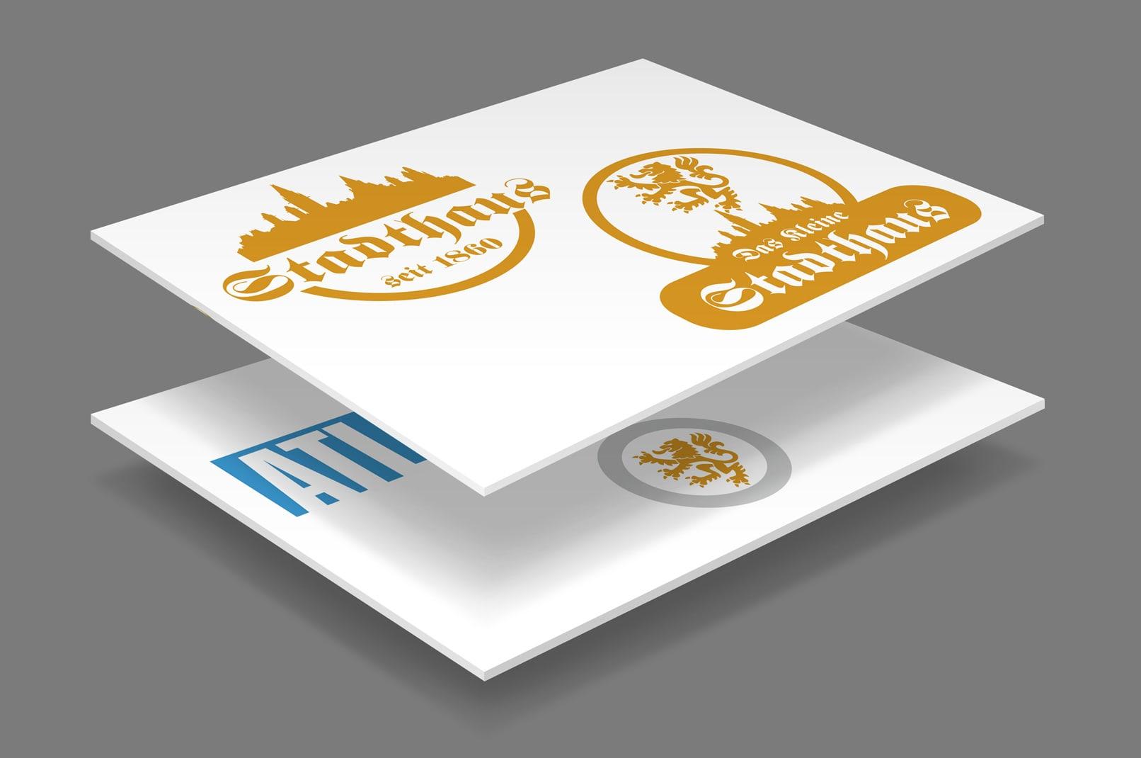 Visitenkarten, erstellt mit CorelDRAW