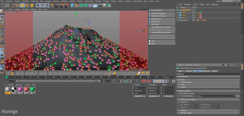 Screenshot aus dem Training zum Einsatz von Laubwerk und zum Modellieren von 3D-Landschaften