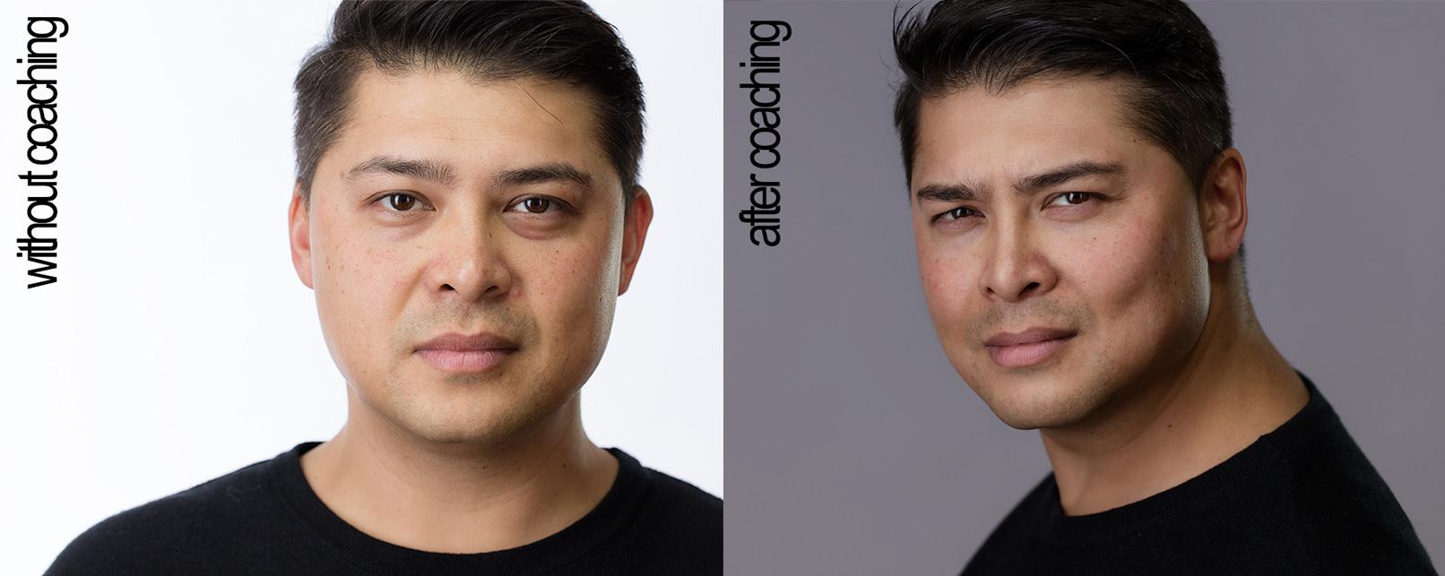Headshot Portrait eines Mannes aus dem Tutorial zur Headshot-Fotografie