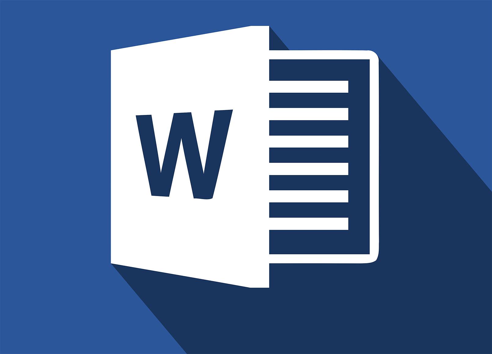 Icon von MS Word zur Illustration von Word Kurs Grundlagen lernen