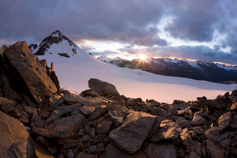 Bergfotografie: Spitze eines Berges