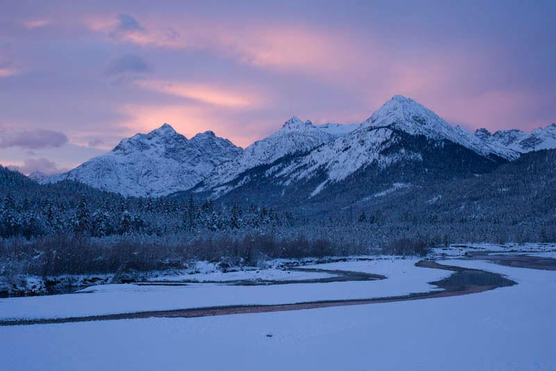 Bergfotografie: winterliche Landschaft