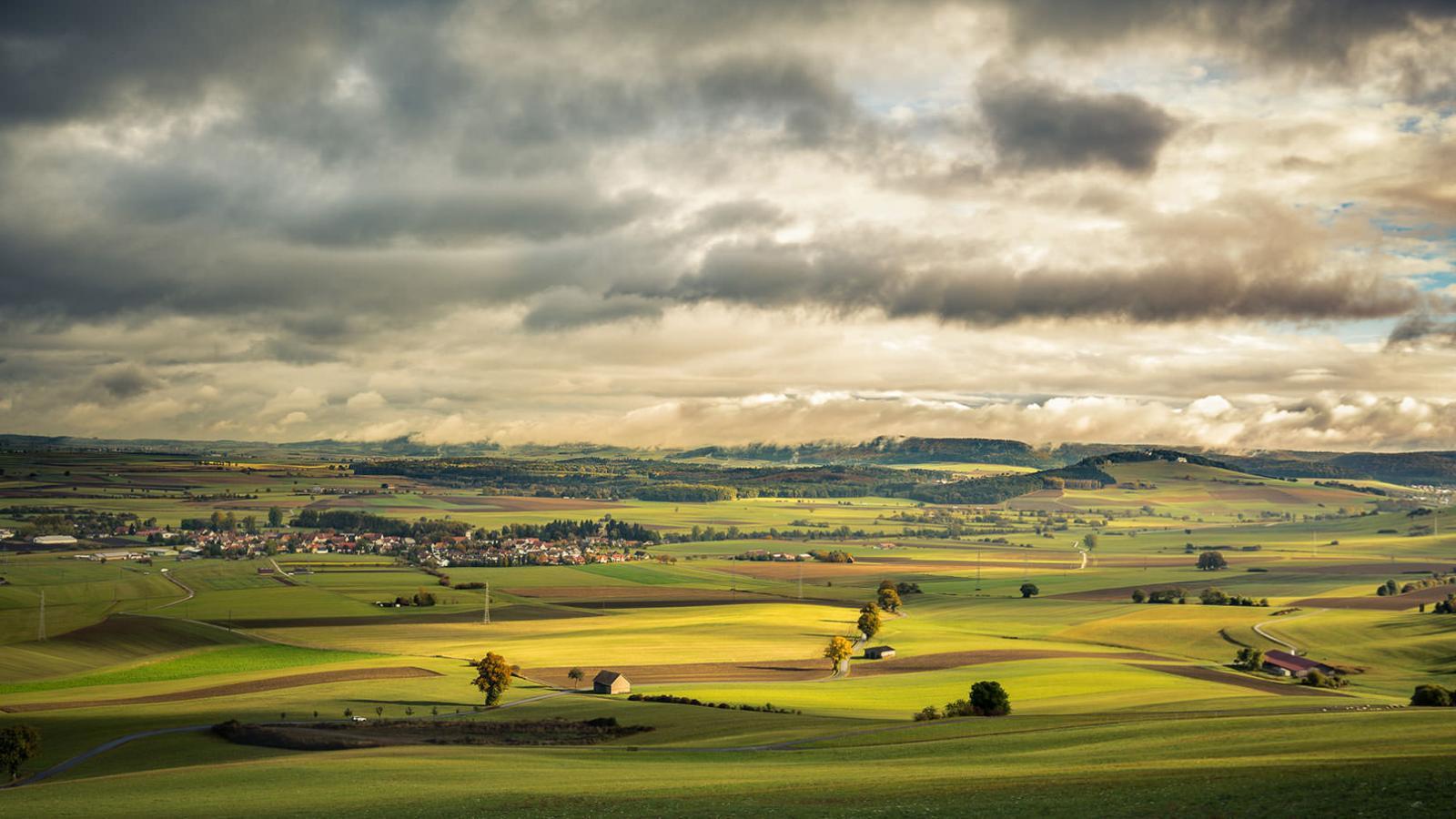 Herbst-Fotografie, Fotoshooting Feld mit Himmel