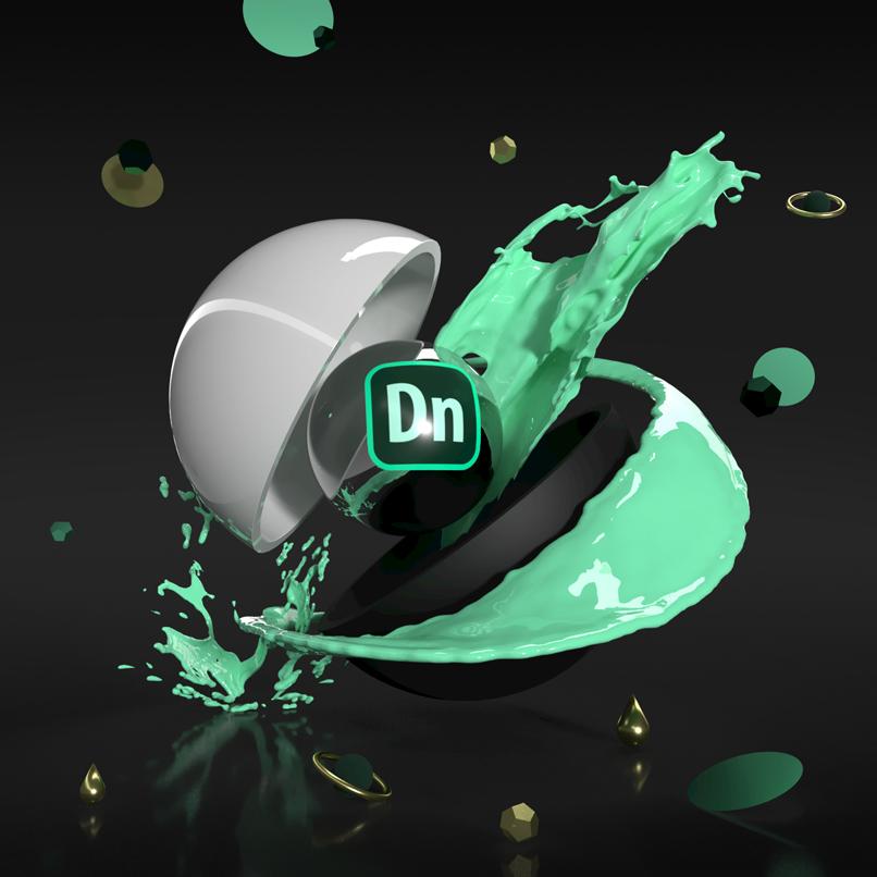 Kreatives Artwork, erstellt in Adobe Dimension CC für das Cover des Tutorials