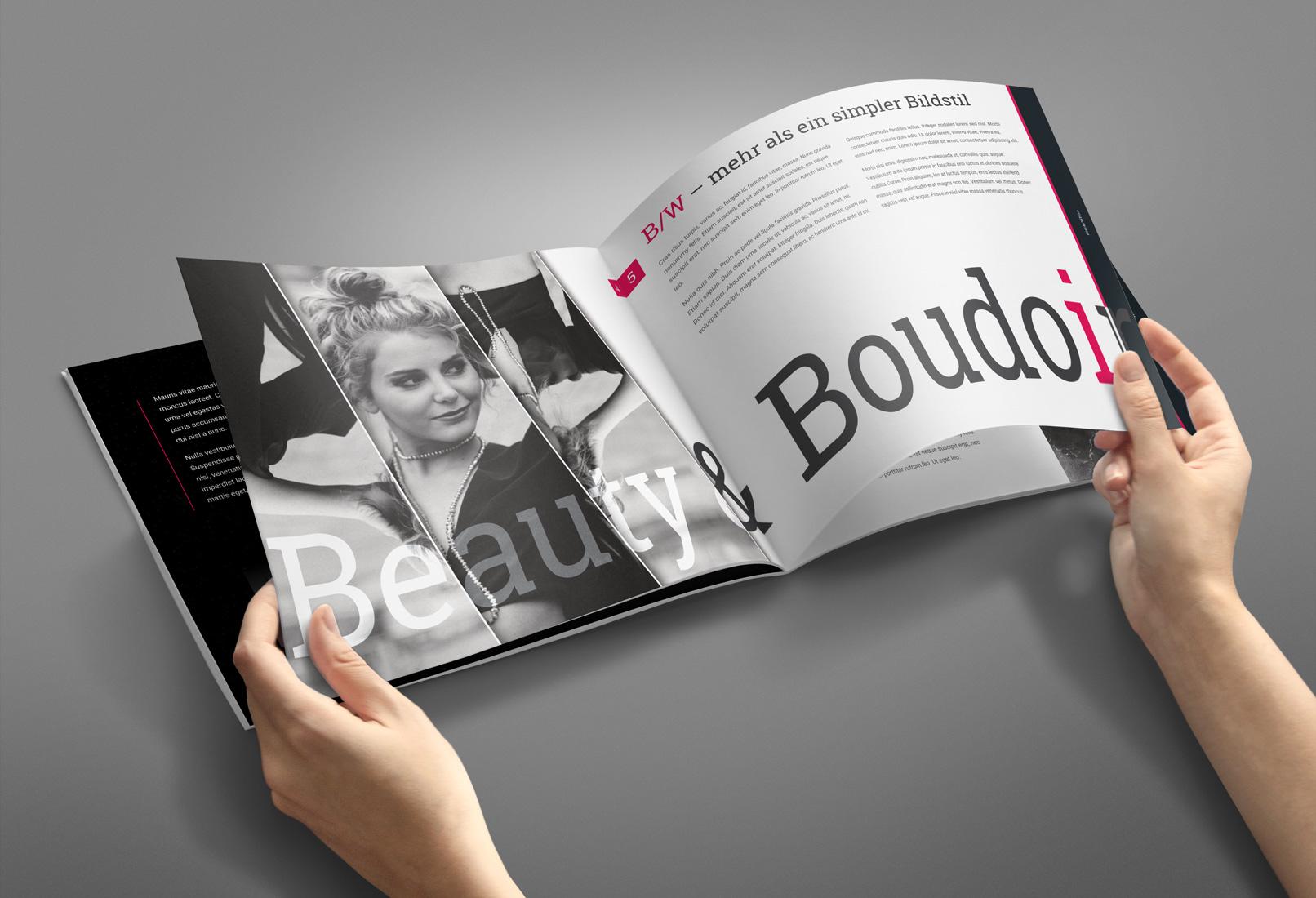 Innenseiten einer Broschüre, erstellt in Affinity Publisher als Beispiel für das Tutorial