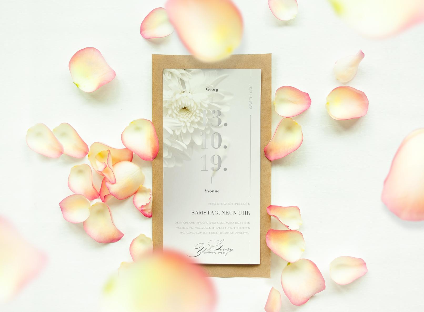 Einladungskarte, erstellt in Affinity Publisher als Beispiel für das Tutorial