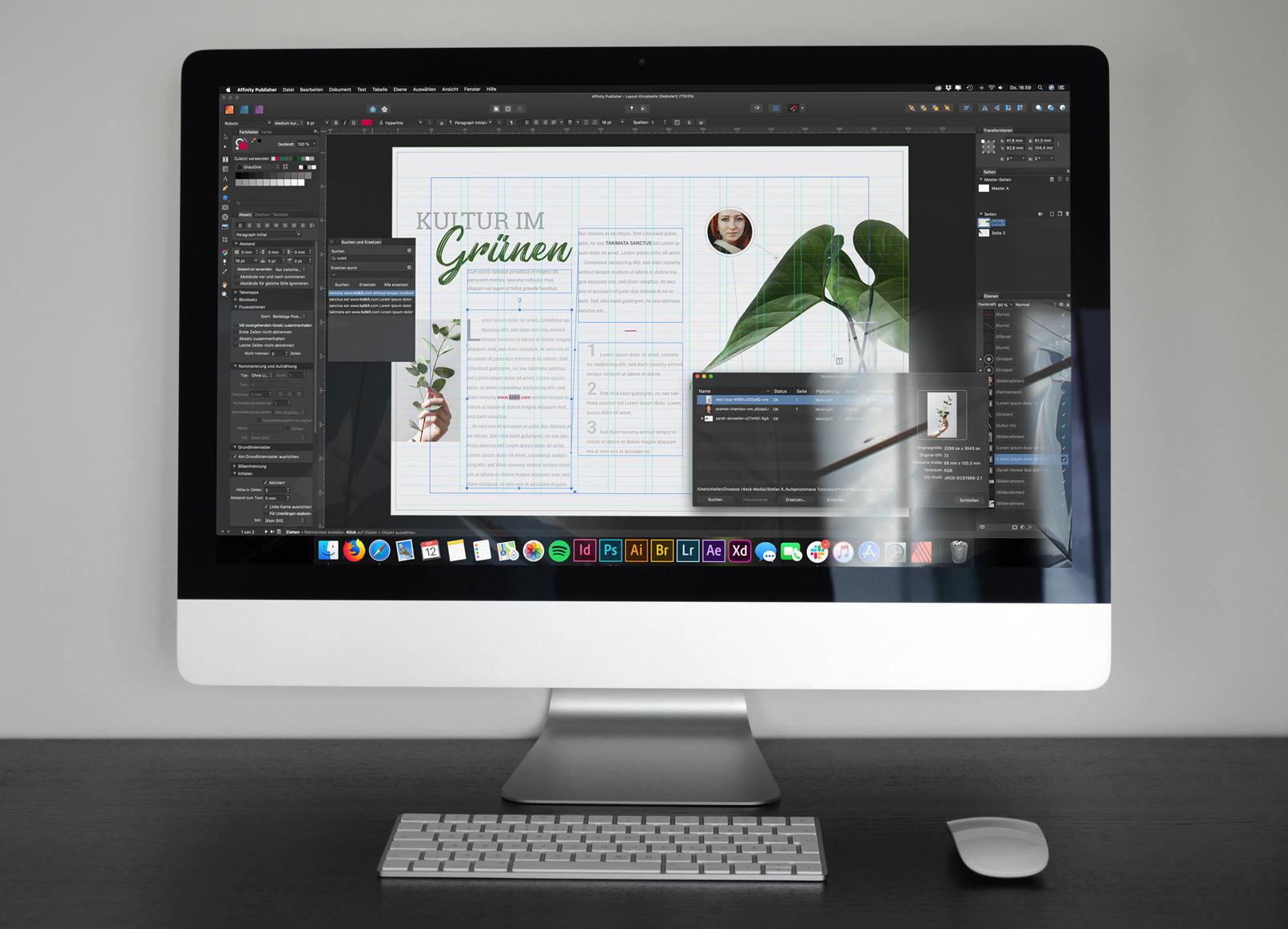 Arbeit mit Hilfslinien in Affinity Publisher