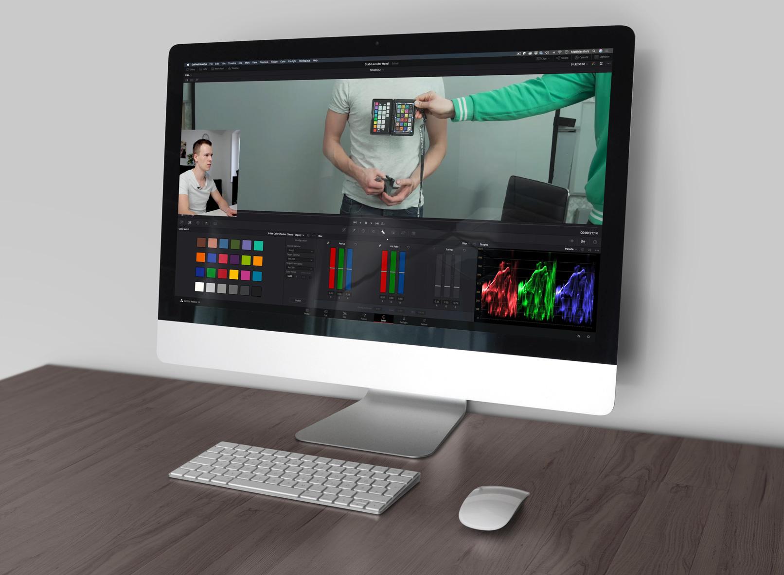 Ausschnitt aus dem Video-Tutorial zur Videobearbeitung mit DaVinci Resolve