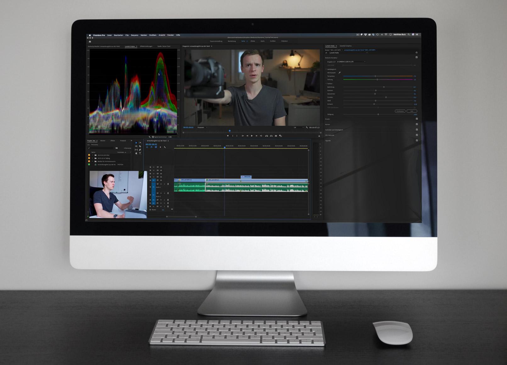 Videobearbeitung mit Adobe Premiere Pro CC, Ausschnitt aus dem Tutorial
