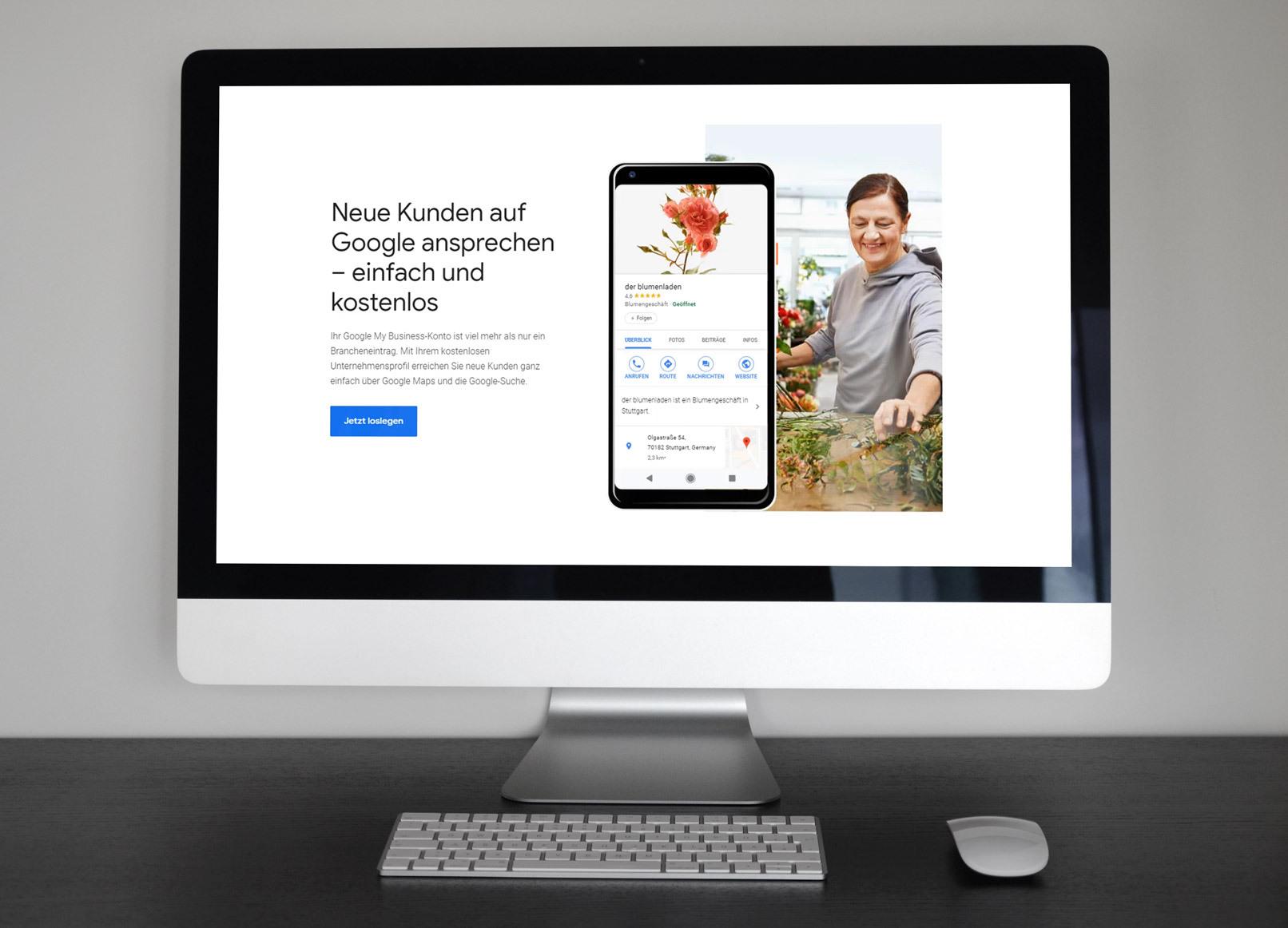 Screenshot von Google My Business für das Local SEO-Training