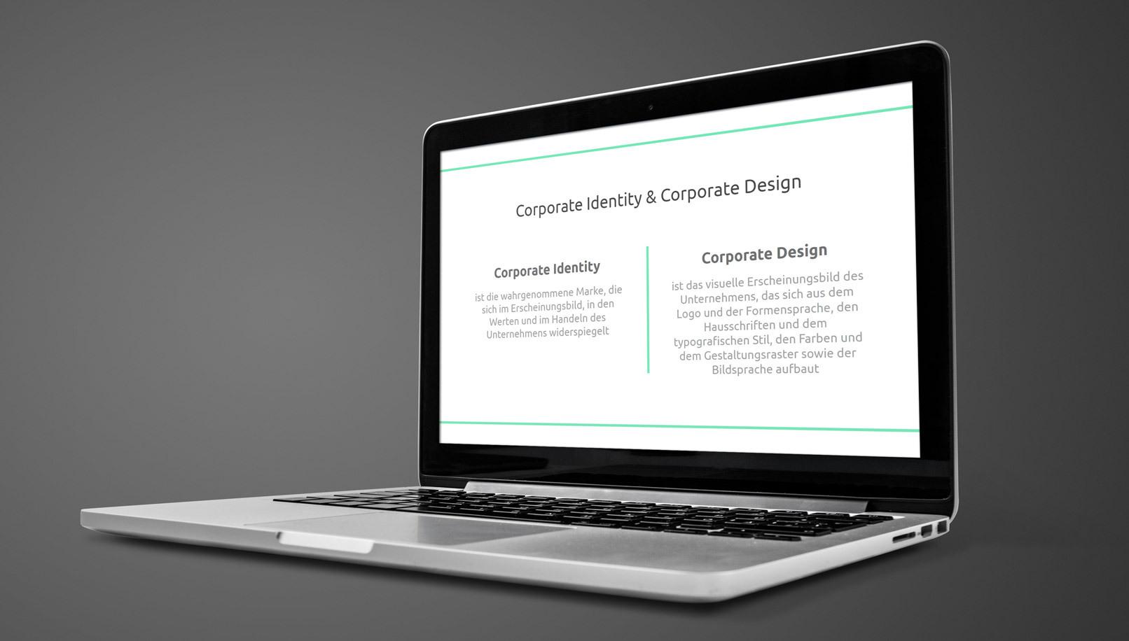 Positionierung von Unternehmen und Markenaufbau: Screenshot aus dem Kurs auf einem Laptop