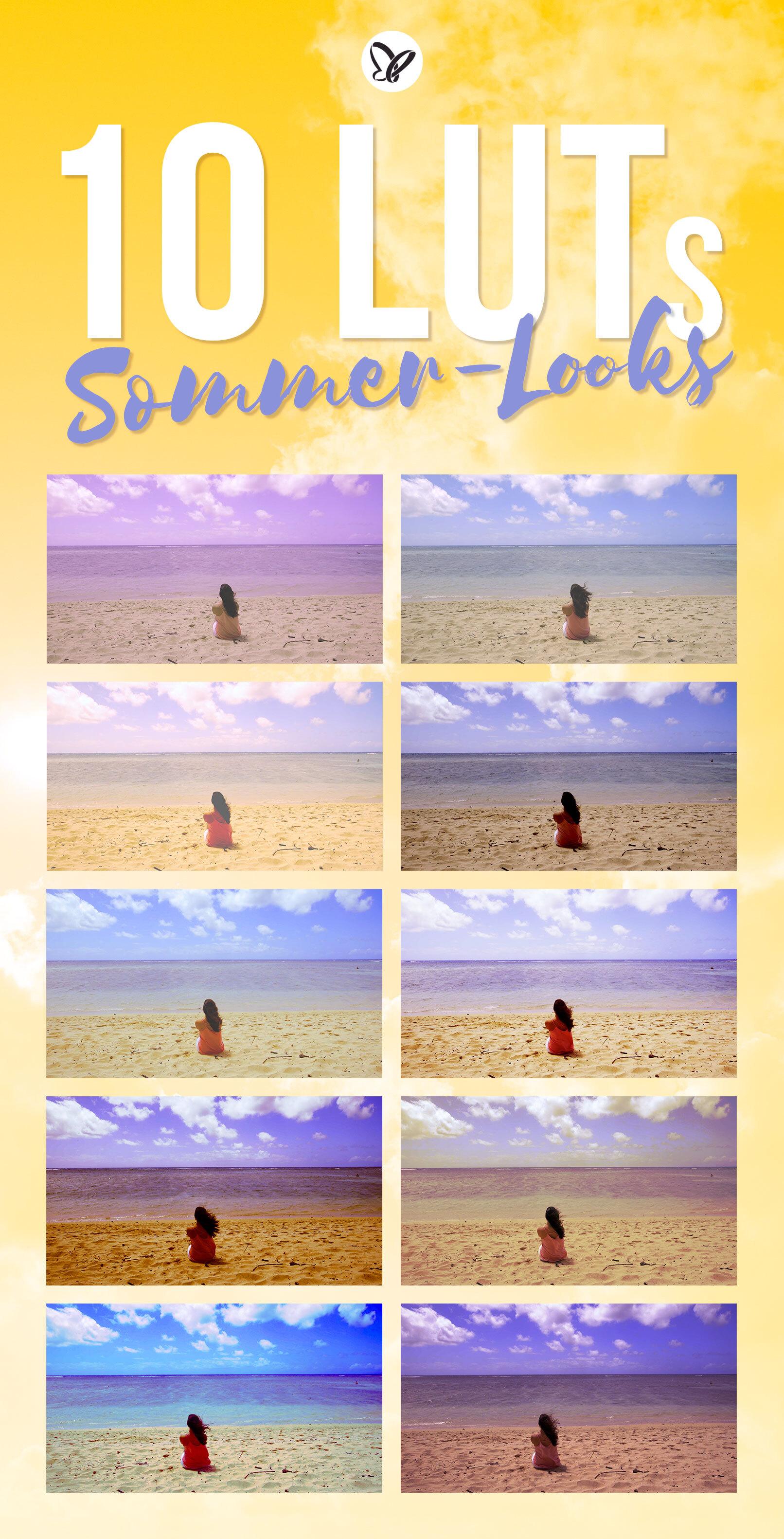 Vorschau auf die 10 Video-LUTs für sommerliche, warme Retro-Looks